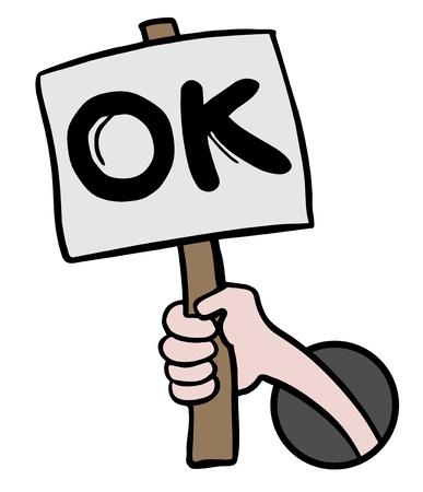 affirmation: Creative design of ok card Illustration