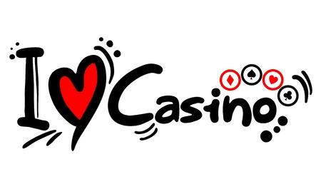 Creative design of love casino icon