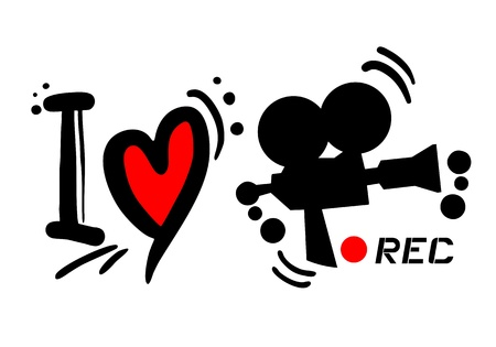 rec: Design creativo di amore rec Vettoriali