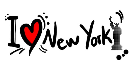 Creative design of Love new york Vector