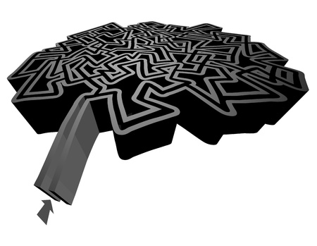Creative design of dark maze Vector
