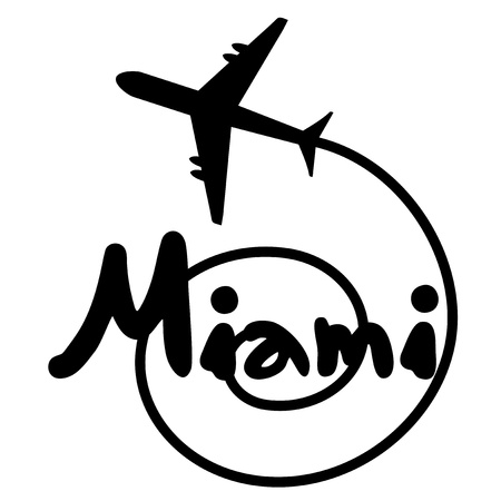 Miami travel holidays Vector