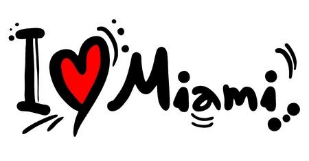 miami: Love Miami Illustration