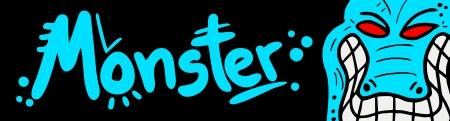 Monster card Vector