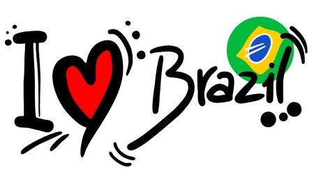 나는 브라질을 사랑합니다 일러스트