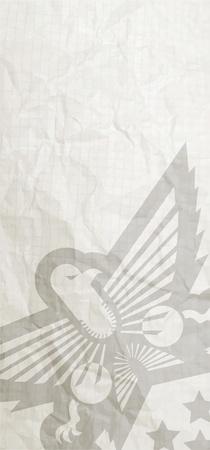 honor guard: Military vintage card Illustration