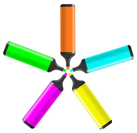 Color art star Vector