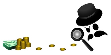 Search money Stock Vector - 20726412