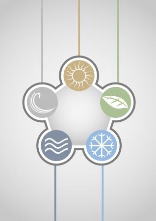 Nature symbols background