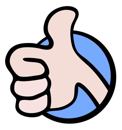Toda la mano derecha Ilustración de vector