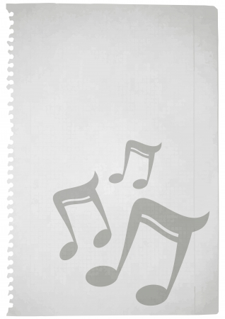 Paper music Vector