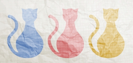Color cats Vector
