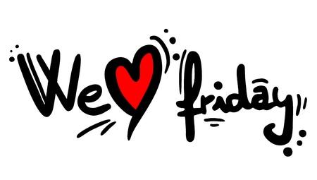 sport cartoon: We love friday