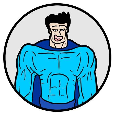 Strong hero icon Vector