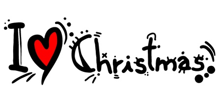 I love Christmas Stock Vector - 20819928