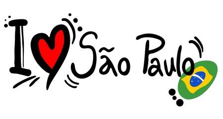 marvel: I love Sao Paulo Illustration