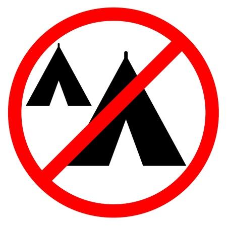 quartered: No camping zone