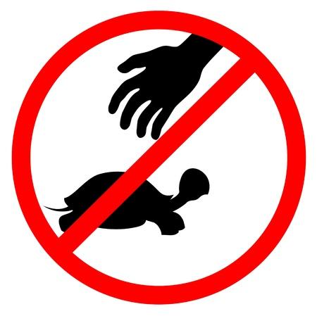 No take animals  イラスト・ベクター素材