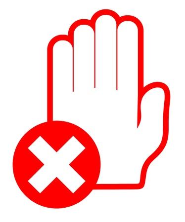 no pase: No se muestra de la mano pase