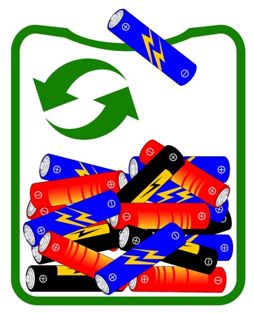 Recycle battery Stock Vector - 20819988