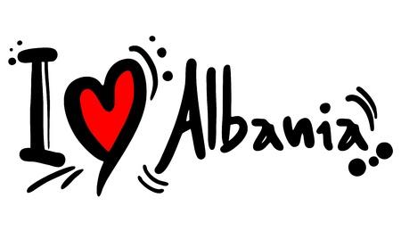 I love Albania Vector