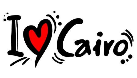 I love Cairo Vector