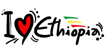 ethiopia abstract: I love Ethiopia Illustration
