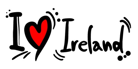 I love Ireland Vector