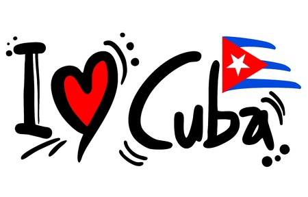 bandera cuba: Me encanta Cuba