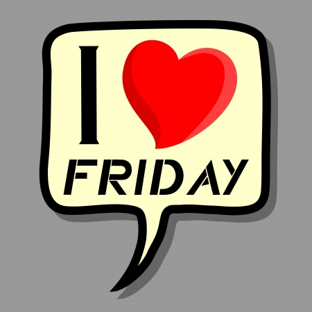 I love Friday Vector
