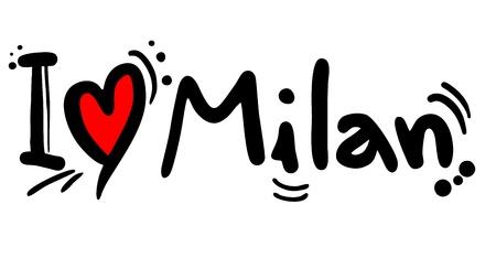 adorar: Eu amo Milão Ilustração