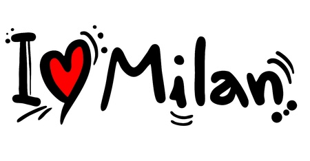 I love Milan Stock fotó - 20820076