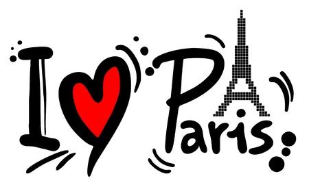 I love Pairs Reklamní fotografie - 20820097