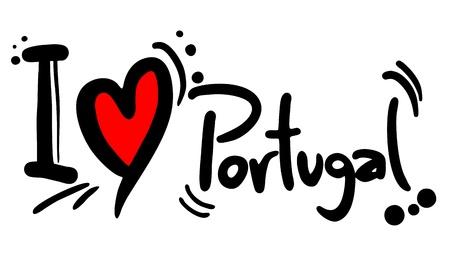 나는 포르투갈을 사랑합니다 일러스트