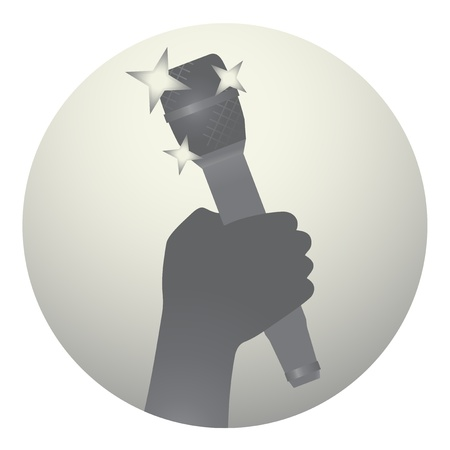 hum: Microphone icon Illustration