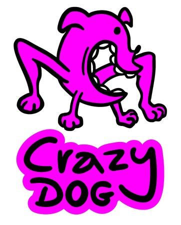 schizophrenic: Crazy dog