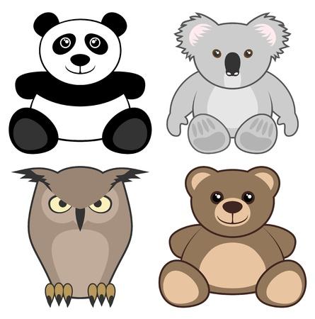 Animal toys Vector