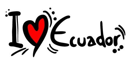 republic of ecuador: I love Ecuador Illustration