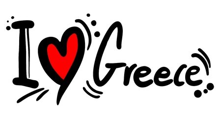 I love Greece Vector
