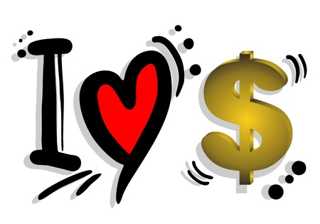 I love dollar Stock Vector - 21033038