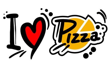 I love Pizza Vectores