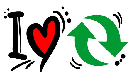 I love recycle Vector