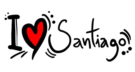 I love Santiago Stock Vector - 21004370