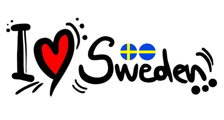 place of worship: Sweeden love Illustration