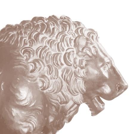 Lion stone Stock Vector - 20991334