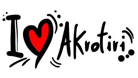 predilection: I love Akrotiri Illustration