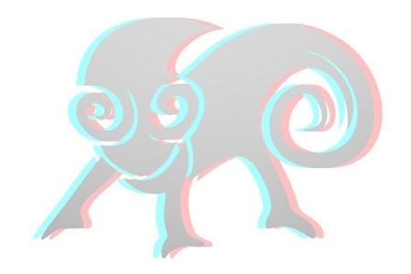 dimensinal: Reptile icon Illustration