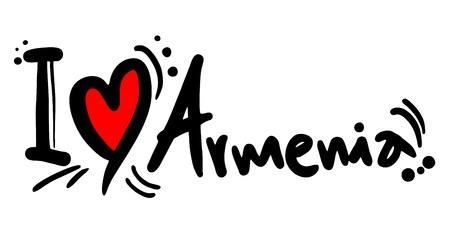 predilection: I love Armenia Illustration
