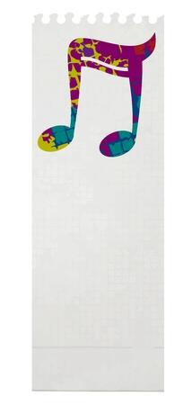 original single: Art music card Illustration