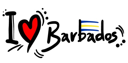 I love Barbados Vector
